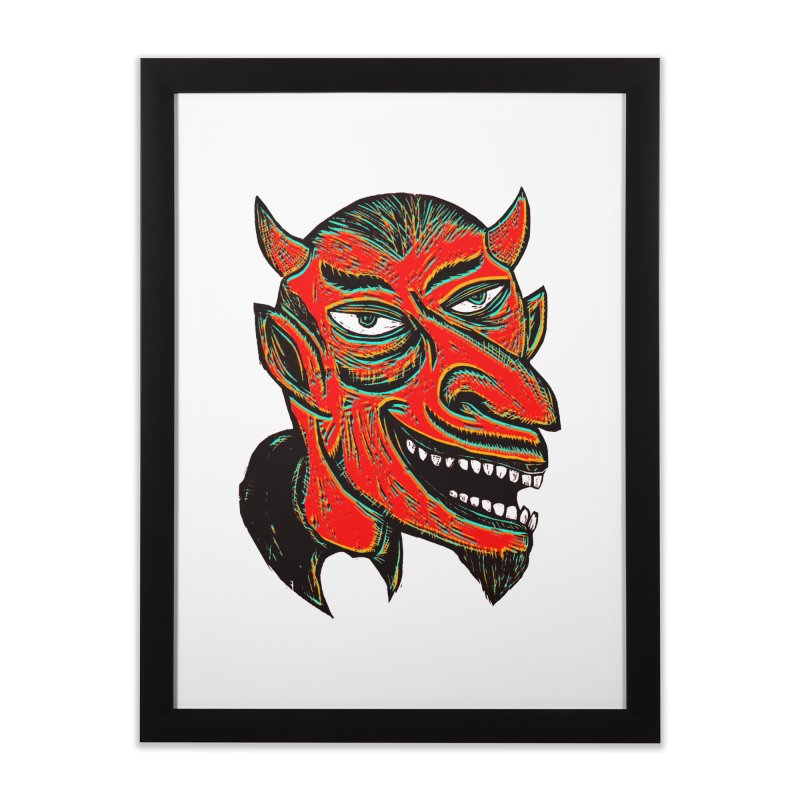 Devil Head Home Framed Fine Art Print by Sean StarWars' Artist Shop