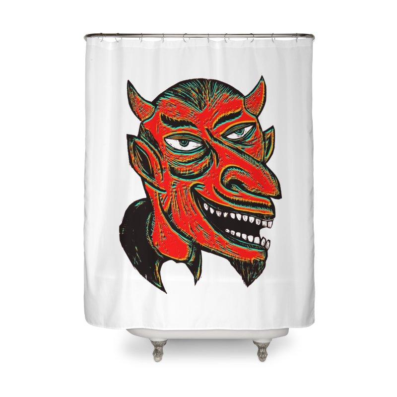 Devil Head Home Shower Curtain by Sean StarWars' Artist Shop