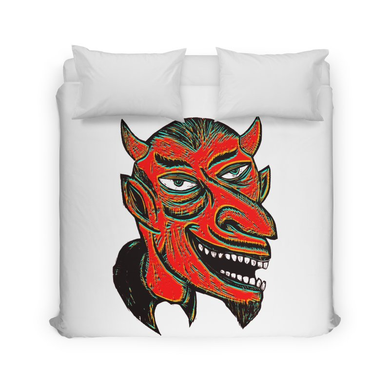 Devil Head Home Duvet by Sean StarWars' Artist Shop