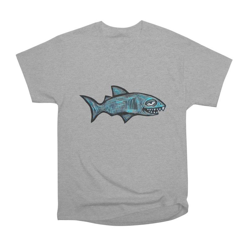 Shark Men's Heavyweight T-Shirt by Sean StarWars' Artist Shop