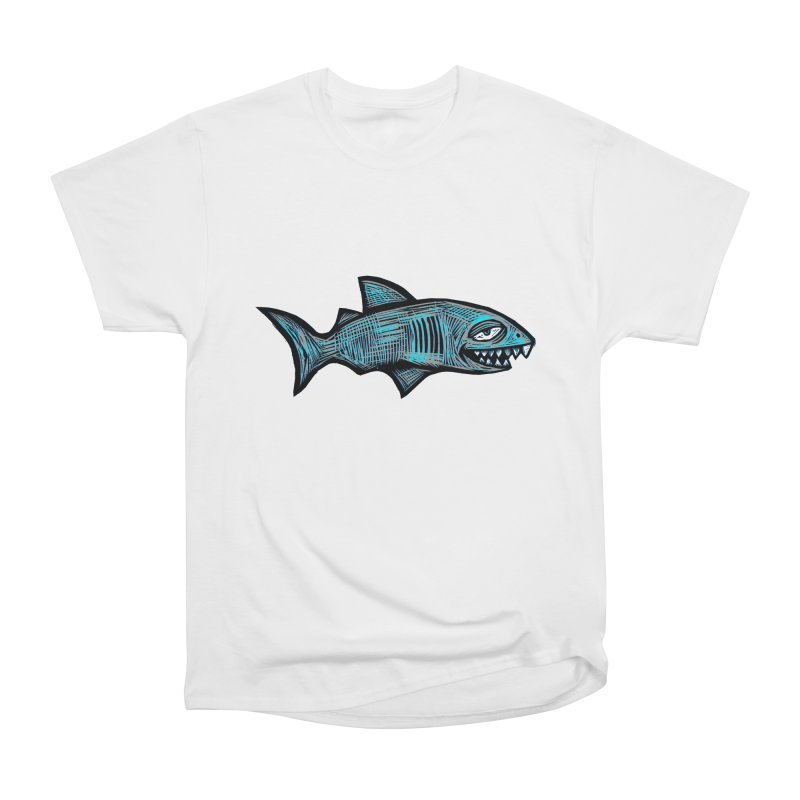 Shark Women's Heavyweight Unisex T-Shirt by Sean StarWars' Artist Shop