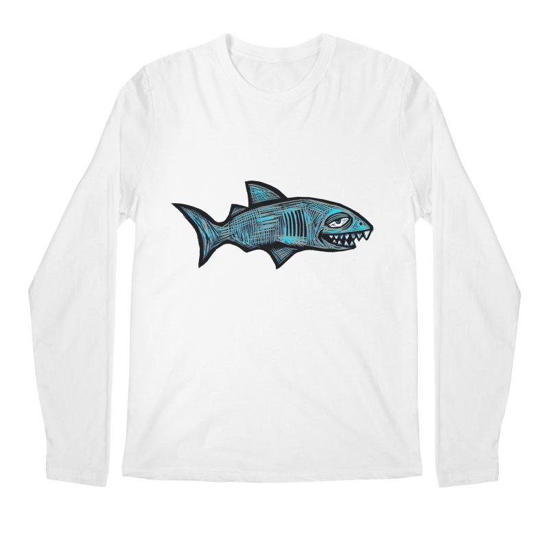 Shark Men's Regular Longsleeve T-Shirt by Sean StarWars' Artist Shop