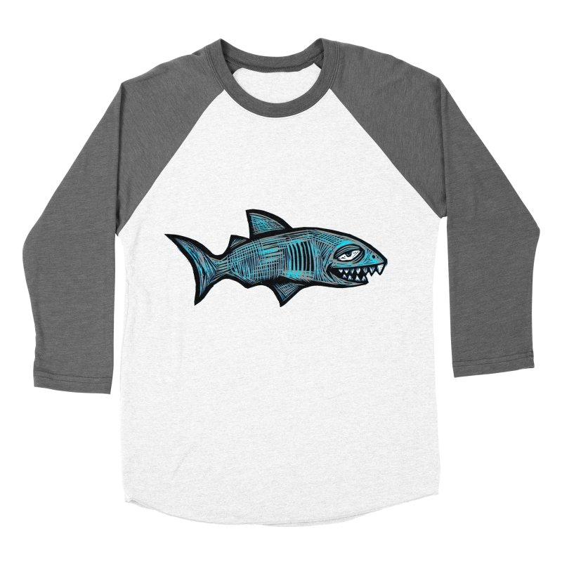Shark Men's Baseball Triblend Longsleeve T-Shirt by Sean StarWars' Artist Shop