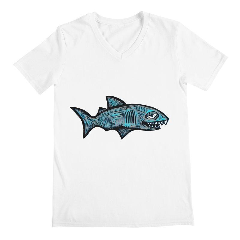 Shark Men's Regular V-Neck by Sean StarWars' Artist Shop