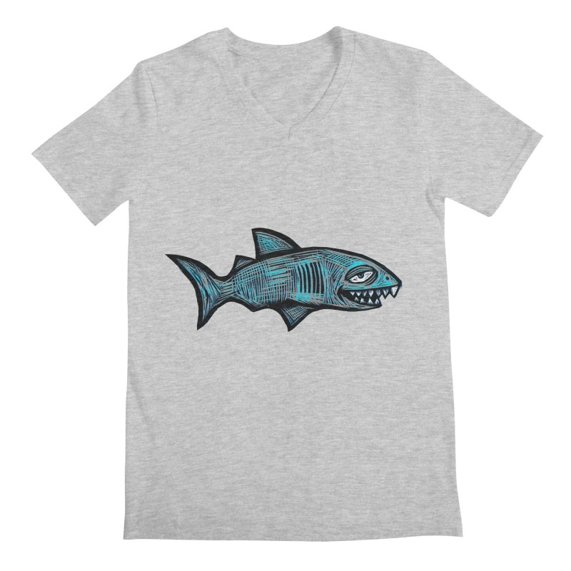 Shark Men's Regular V-Neck by Sean StarWars' Artist Shop