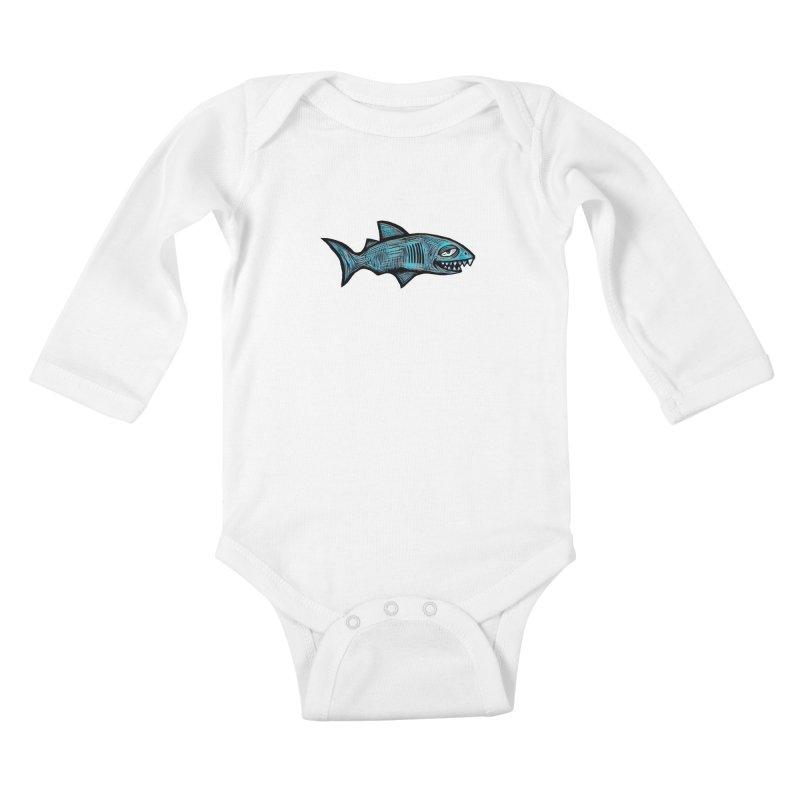 Shark Kids Baby Longsleeve Bodysuit by Sean StarWars' Artist Shop