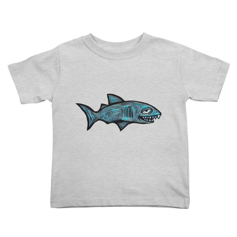 Shark Kids Toddler T-Shirt by Sean StarWars' Artist Shop