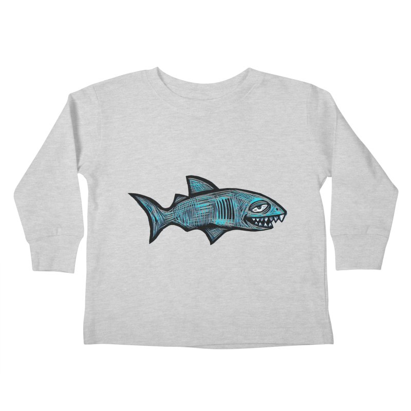 Shark Kids Toddler Longsleeve T-Shirt by Sean StarWars' Artist Shop