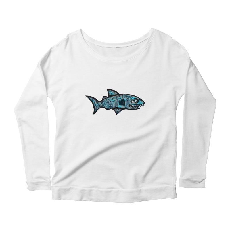 Shark Women's Scoop Neck Longsleeve T-Shirt by Sean StarWars' Artist Shop