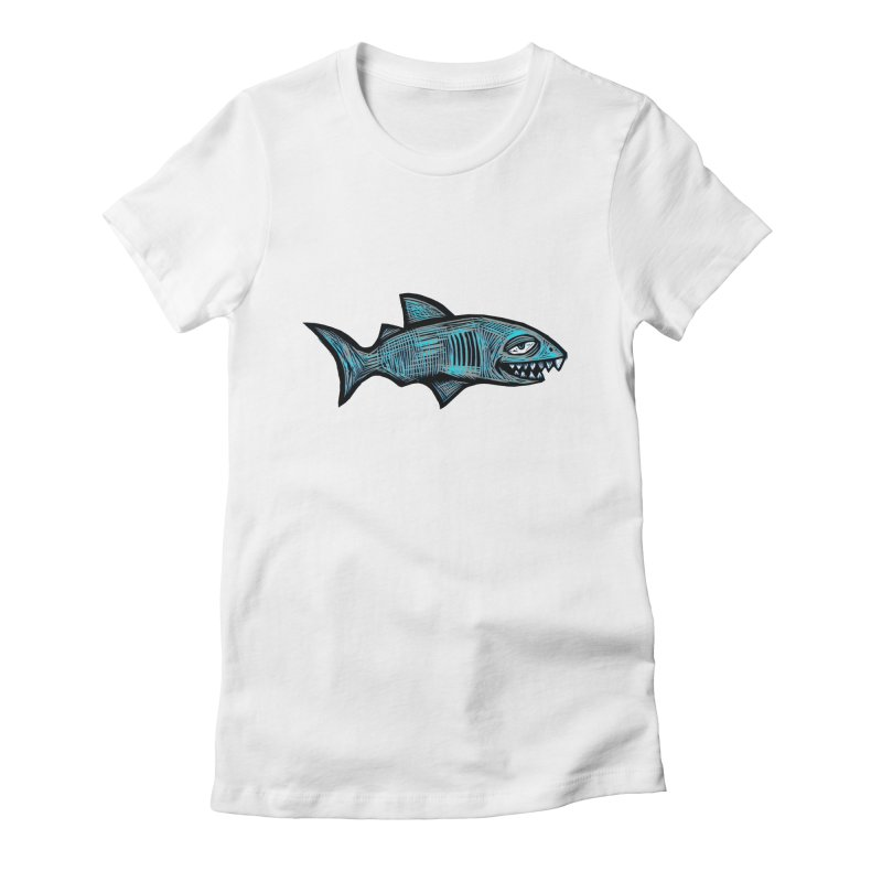Shark Women's Fitted T-Shirt by Sean StarWars' Artist Shop