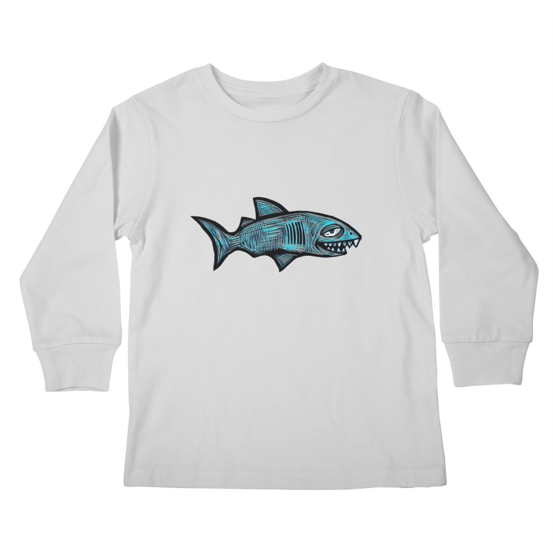 Shark Kids Longsleeve T-Shirt by Sean StarWars' Artist Shop