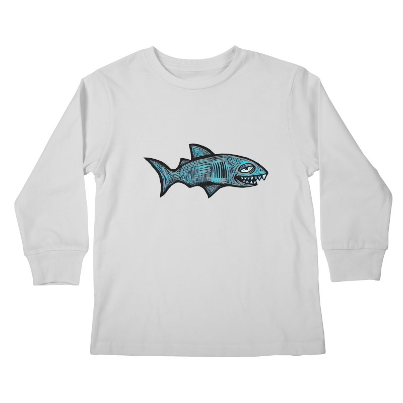 Shark Kids Longsleeve T-Shirt by Sean StarWars' Artist Shop