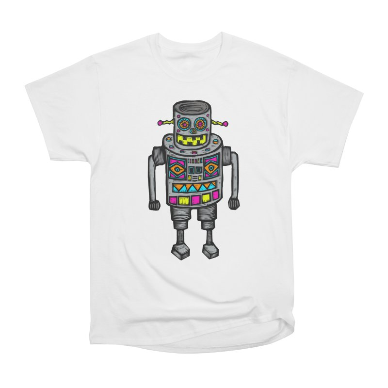 Robot 67 Women's Heavyweight Unisex T-Shirt by Sean StarWars' Artist Shop