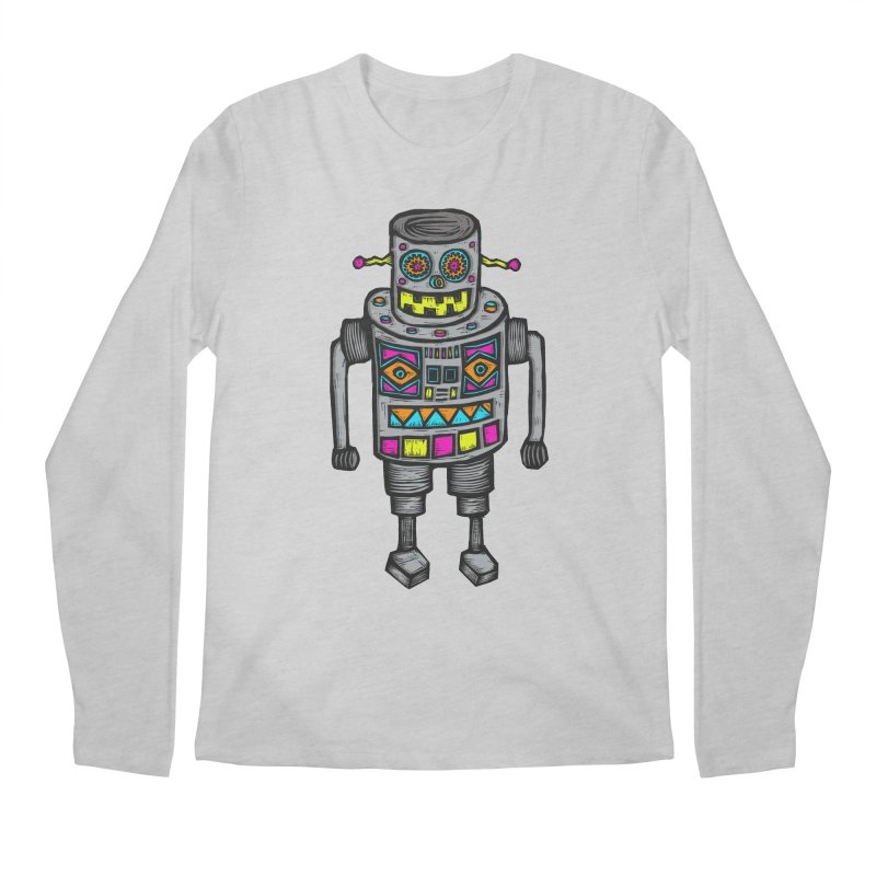 Robot 67 Men's Regular Longsleeve T-Shirt by Sean StarWars' Artist Shop