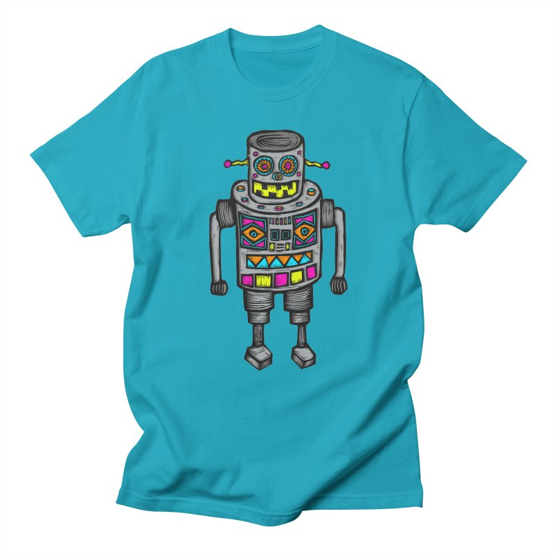 Robot 67 Men's Regular T-Shirt by Sean StarWars' Artist Shop