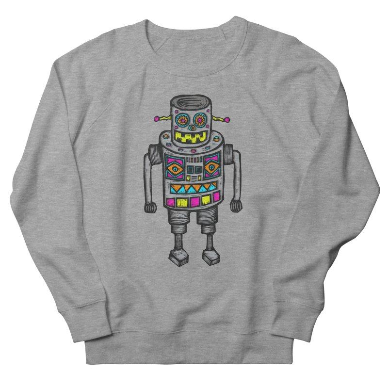 Robot 67 Men's French Terry Sweatshirt by Sean StarWars' Artist Shop