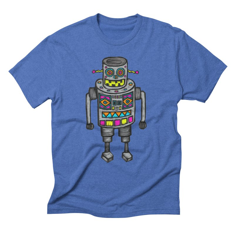 Robot 67 Men's Triblend T-Shirt by Sean StarWars' Artist Shop