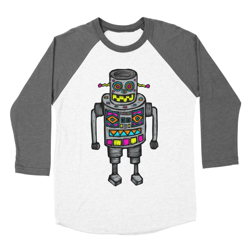 Robot 67 Women's Baseball Triblend Longsleeve T-Shirt by Sean StarWars' Artist Shop