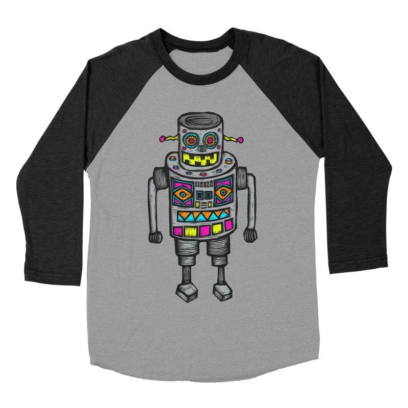 Robot 67 Women's Baseball Triblend T-Shirt by Sean StarWars' Artist Shop