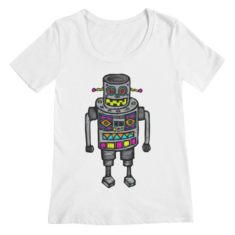 Robot 67 Women's Regular Scoop Neck by Sean StarWars' Artist Shop