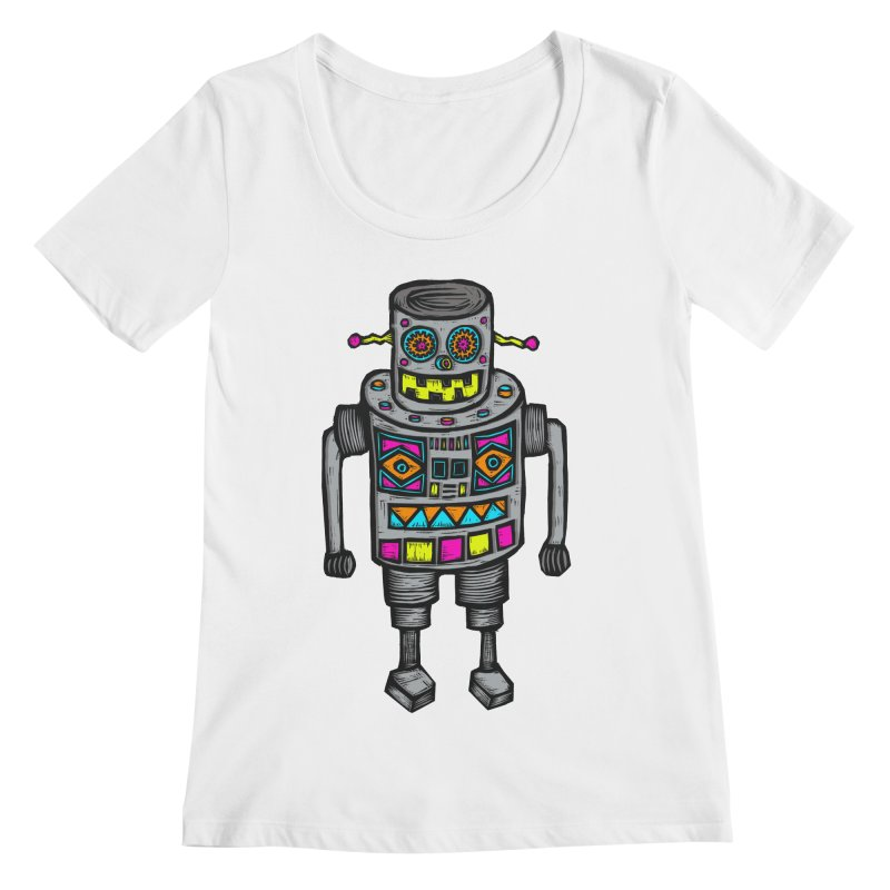 Robot 67 Women's Regular Scoop Neck by Sean StarWars' Artist Shop