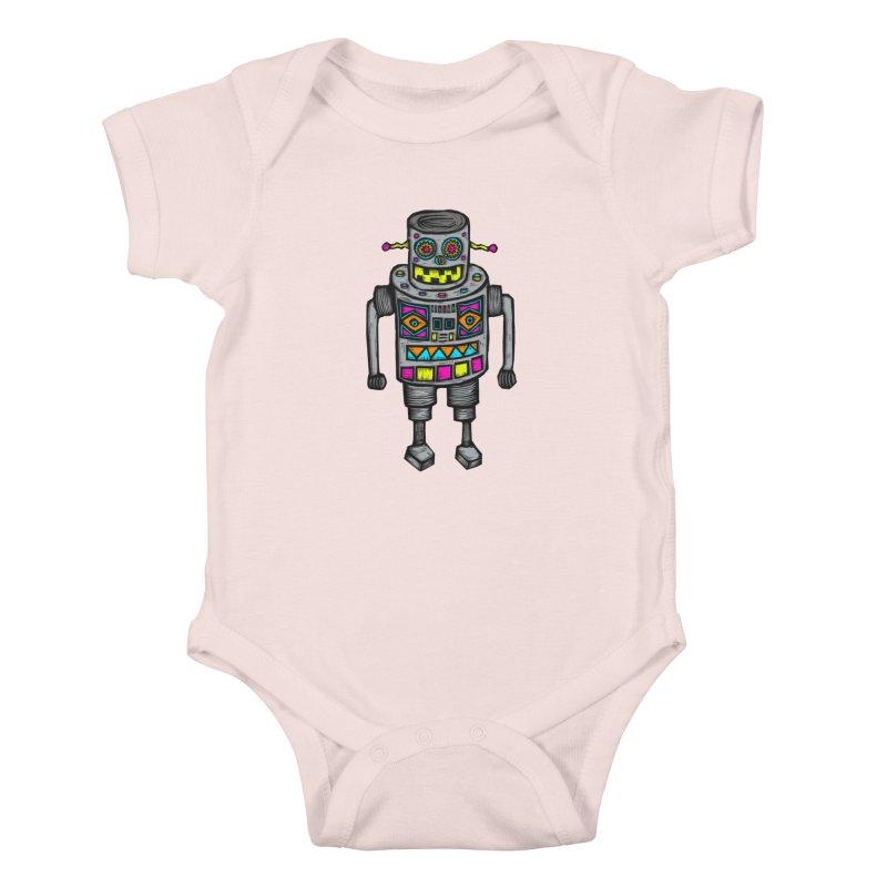 Robot 67 Kids Baby Bodysuit by Sean StarWars' Artist Shop