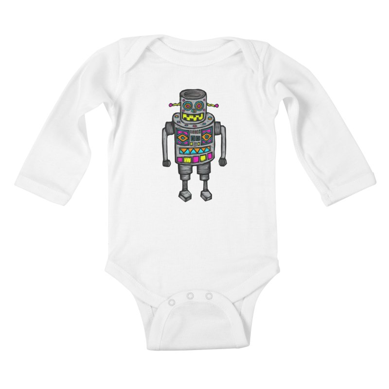 Robot 67 Kids Baby Longsleeve Bodysuit by Sean StarWars' Artist Shop