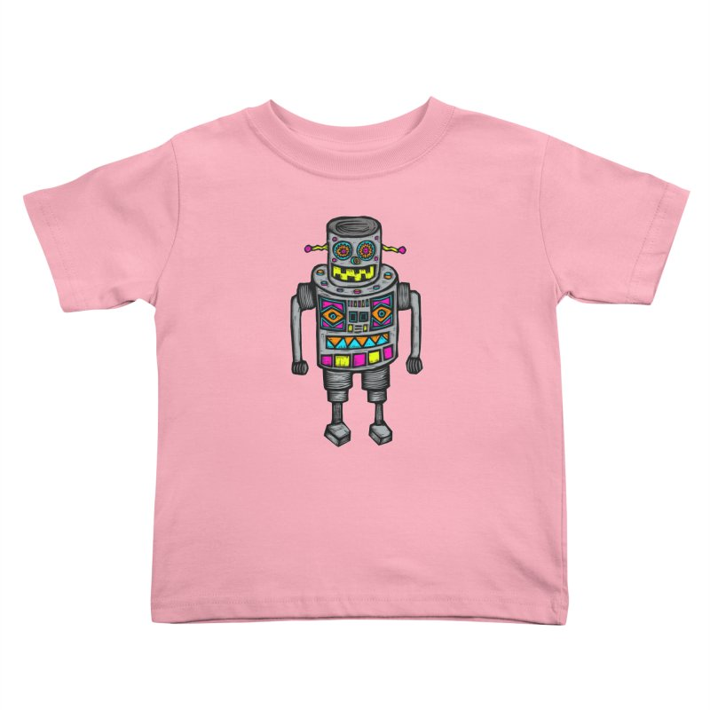 Robot 67 Kids Toddler T-Shirt by Sean StarWars' Artist Shop