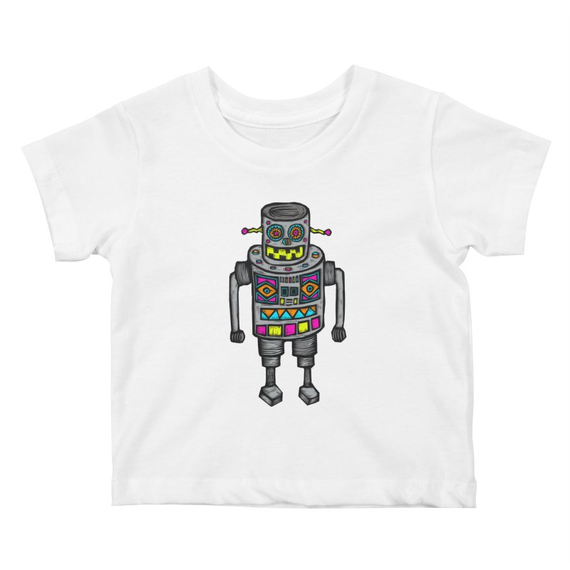 Robot 67 Kids Baby T-Shirt by Sean StarWars' Artist Shop
