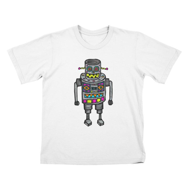Robot 67 Kids T-Shirt by Sean StarWars' Artist Shop