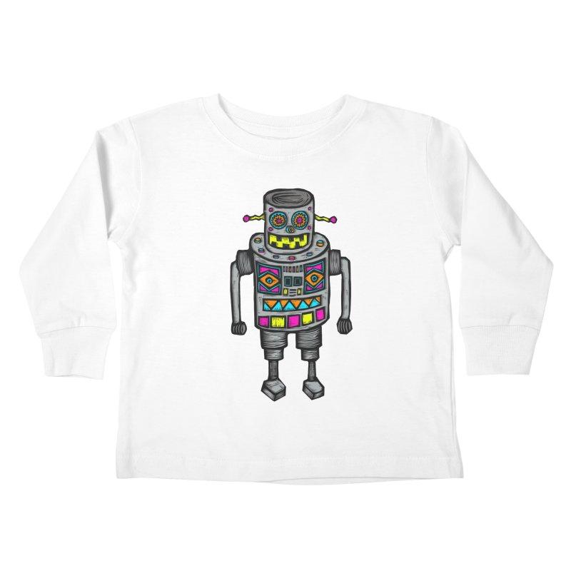 Robot 67 Kids Toddler Longsleeve T-Shirt by Sean StarWars' Artist Shop