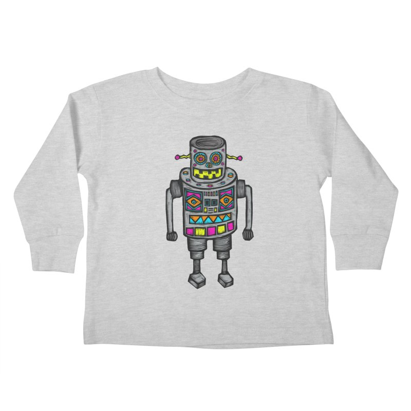 Robot 67 Kids Toddler Longsleeve T-Shirt by Sean StarWars' Artist Shop