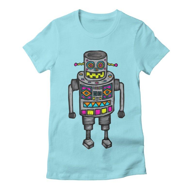 Robot 67 Women's Fitted T-Shirt by Sean StarWars' Artist Shop