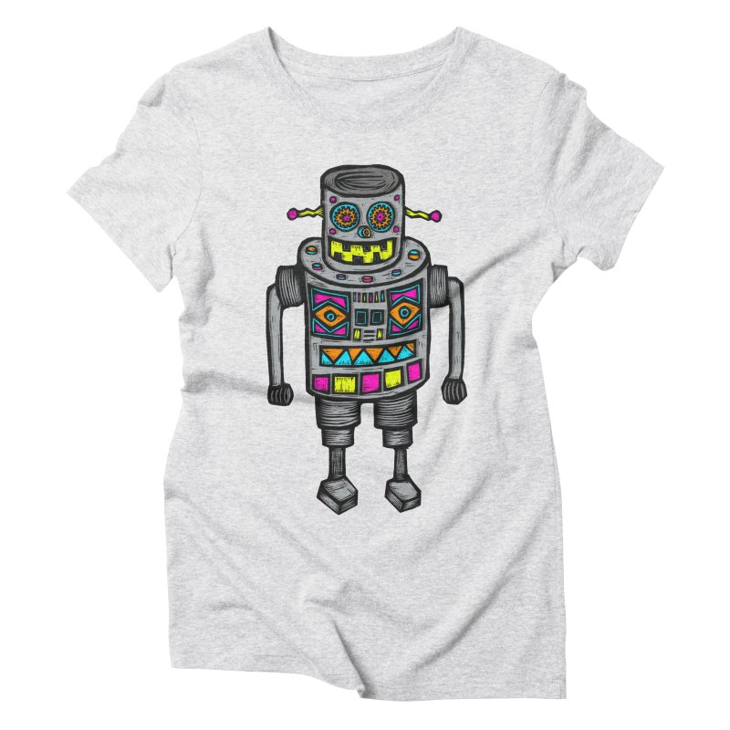 Robot 67 Women's Triblend T-Shirt by Sean StarWars' Artist Shop