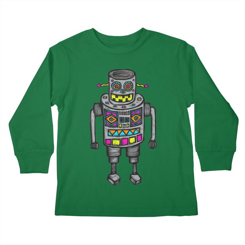 Robot 67 Kids Longsleeve T-Shirt by Sean StarWars' Artist Shop