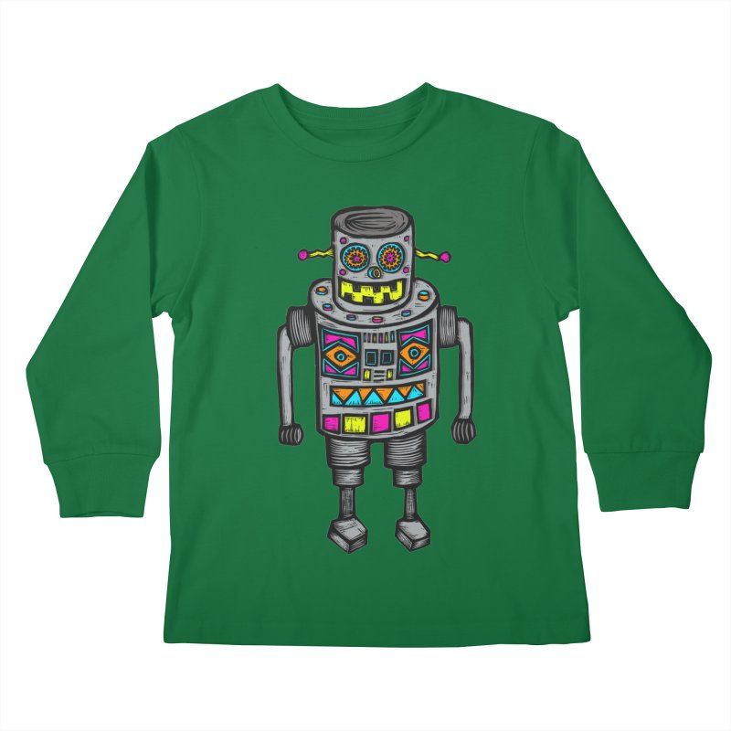 Robot 67 Kids Longsleeve T-Shirt by Sean StarWars' Artist Shop