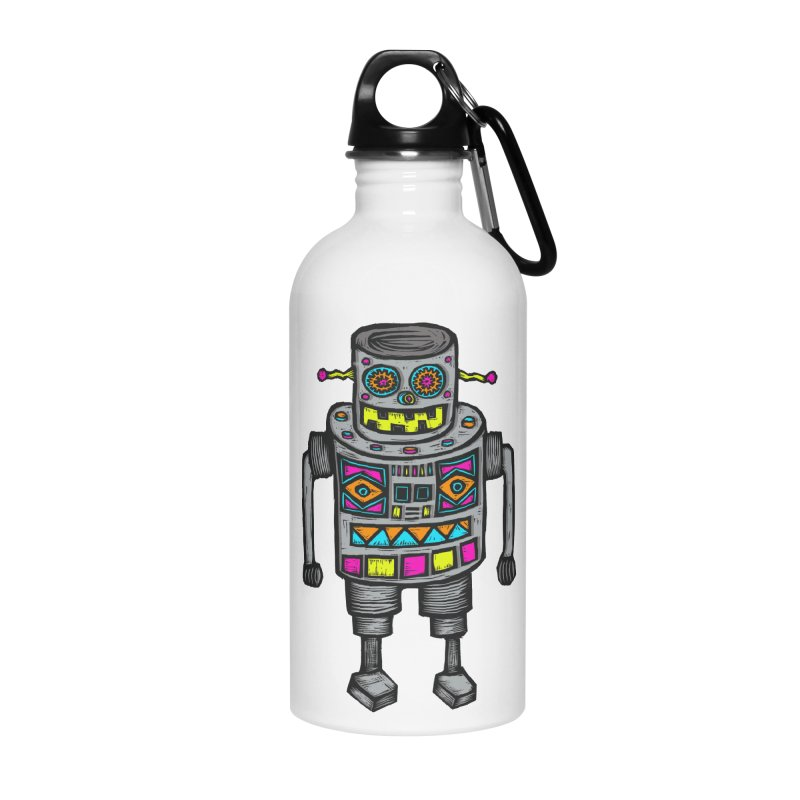 Robot 67 Accessories Water Bottle by Sean StarWars' Artist Shop