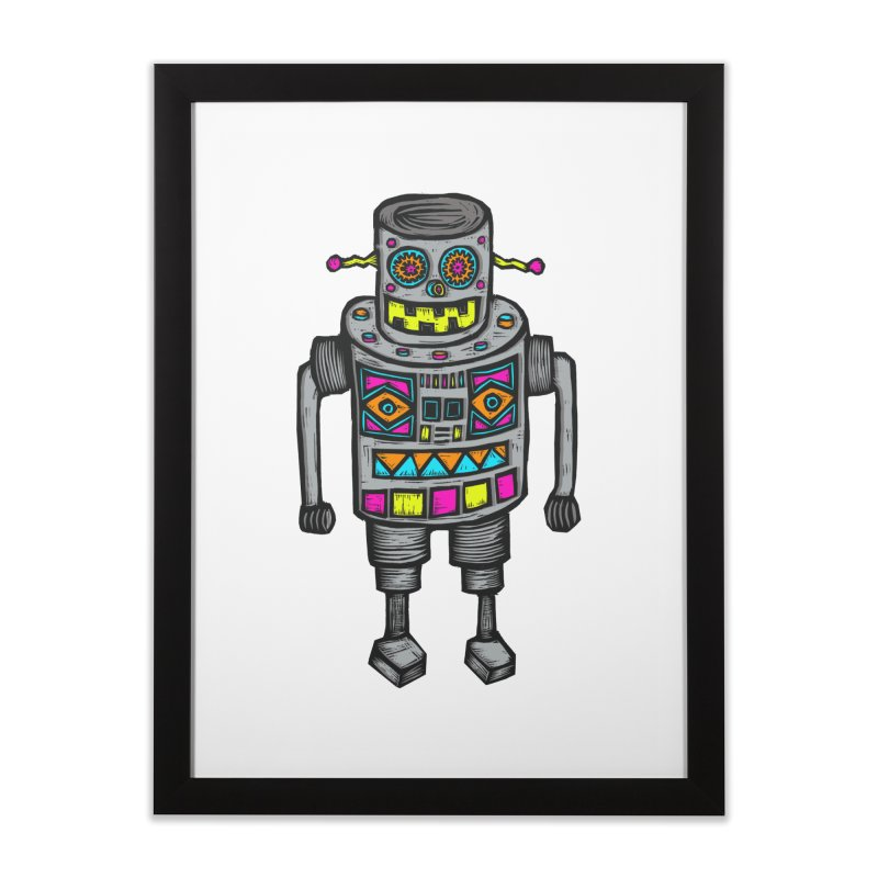 Robot 67 Home Framed Fine Art Print by Sean StarWars' Artist Shop