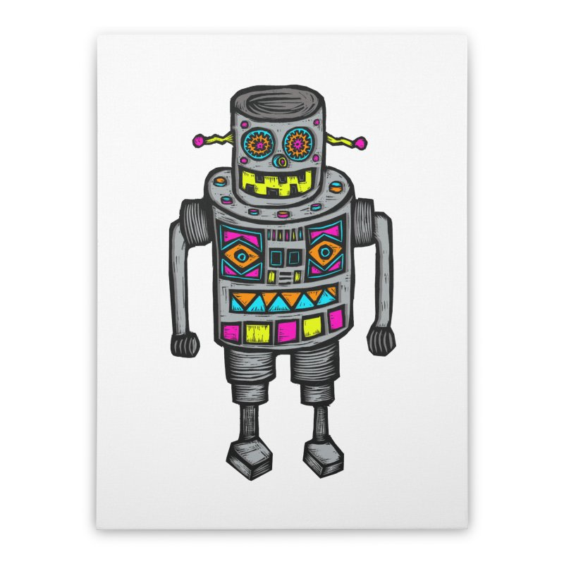 Robot 67 Home Stretched Canvas by Sean StarWars' Artist Shop