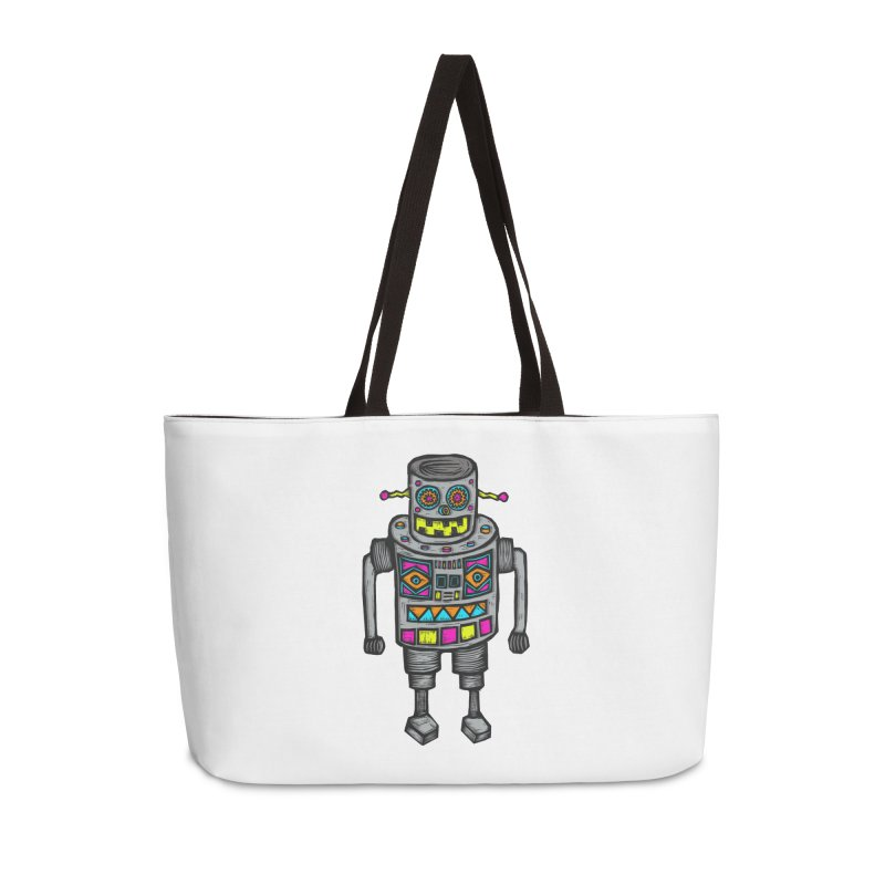 Robot 67 Accessories Weekender Bag Bag by Sean StarWars' Artist Shop