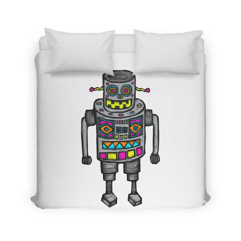 Robot 67 Home Duvet by Sean StarWars' Artist Shop