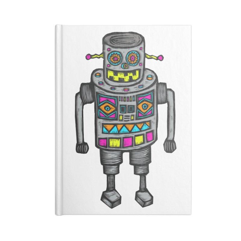 Robot 67 Accessories Lined Journal Notebook by Sean StarWars' Artist Shop