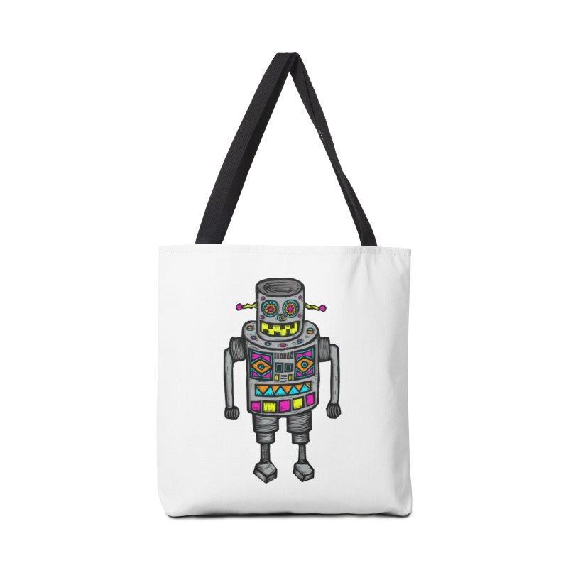 Robot 67 Accessories Bag by Sean StarWars' Artist Shop