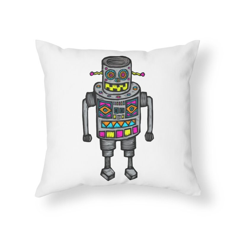Robot 67 Home Throw Pillow by Sean StarWars' Artist Shop