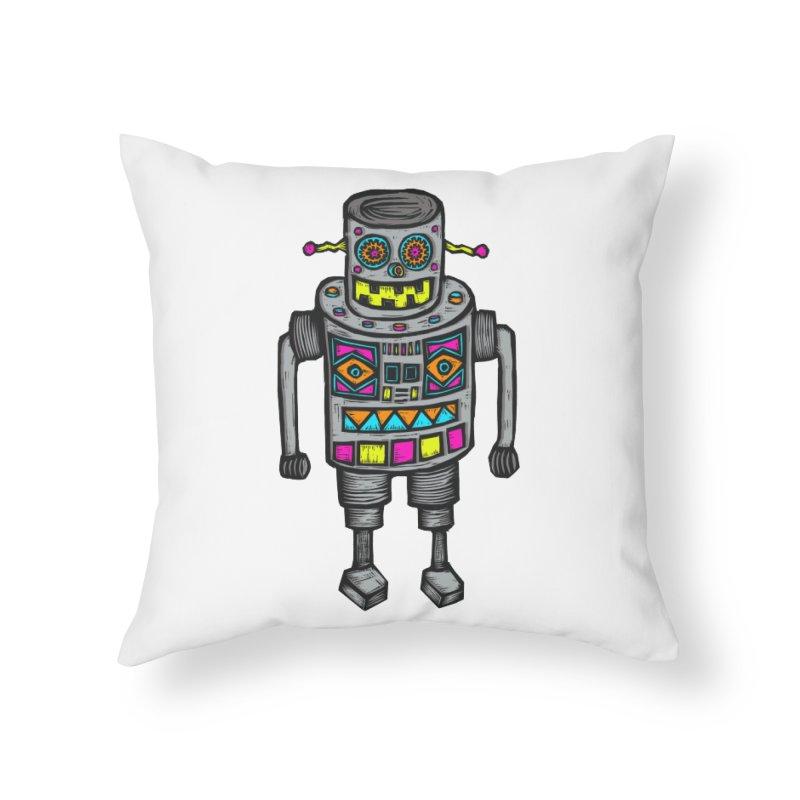 Robot 67 Home Throw Pillow by Sean StarWars' Artist Shop