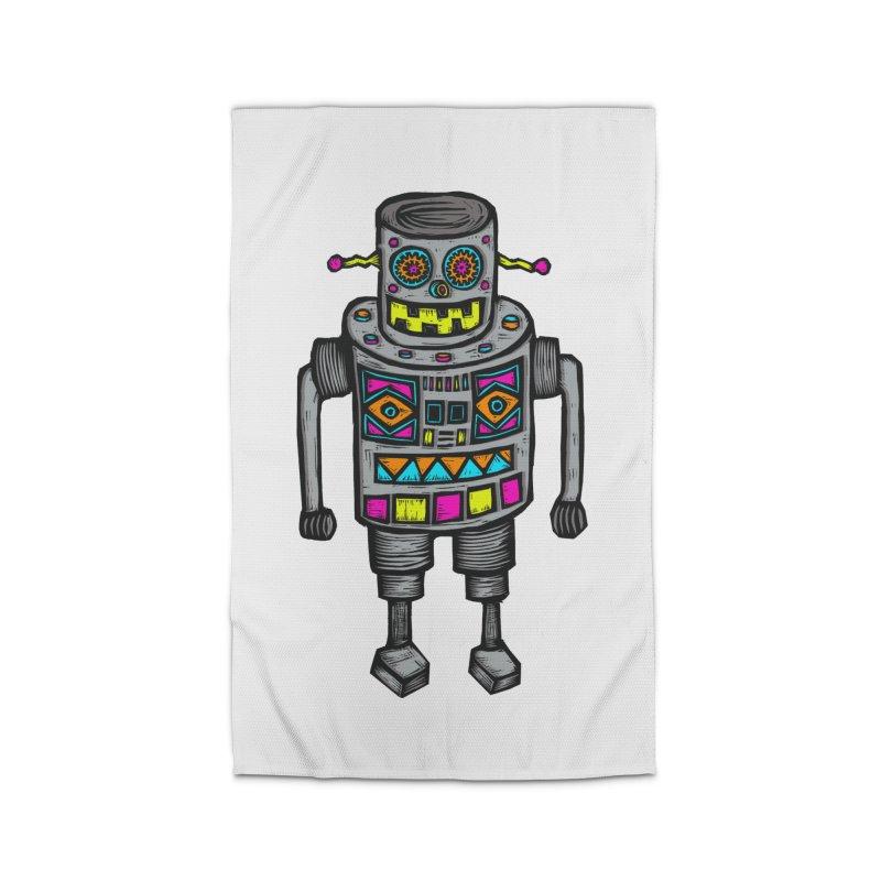 Robot 67 Home Rug by Sean StarWars' Artist Shop