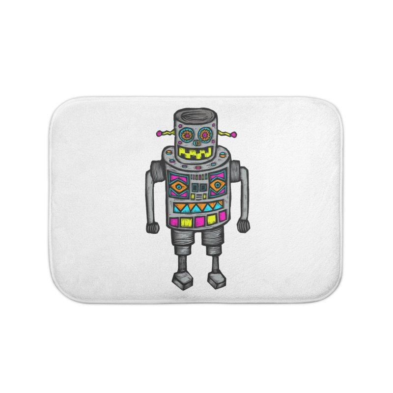 Robot 67 Home Bath Mat by Sean StarWars' Artist Shop
