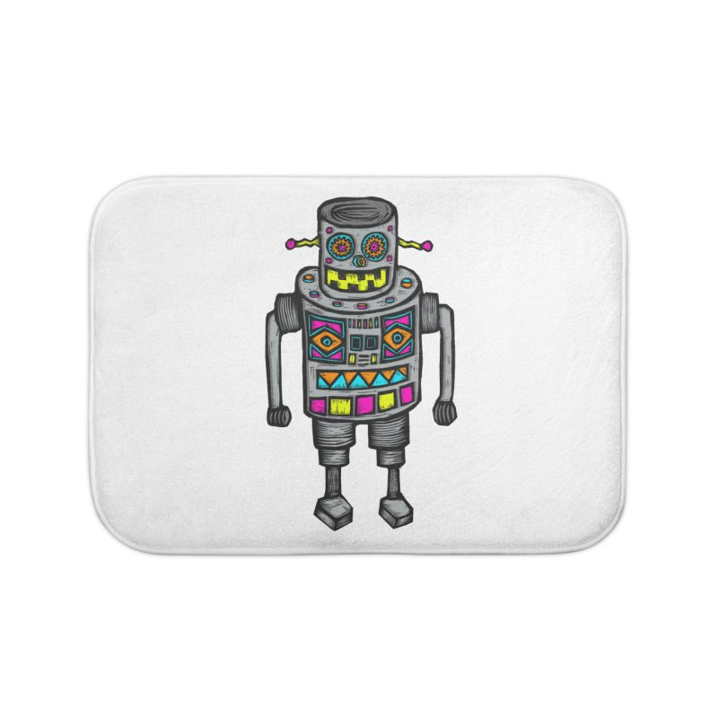 Robot 67 Home Bath Mat by Sean StarWars' Artist Shop