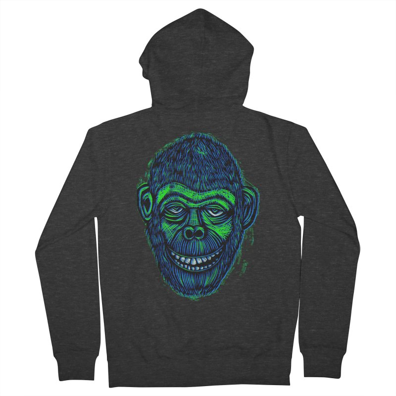 Chimp Women's French Terry Zip-Up Hoody by Sean StarWars' Artist Shop