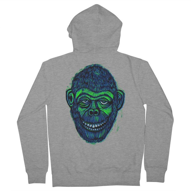 Chimp Men's French Terry Zip-Up Hoody by Sean StarWars' Artist Shop